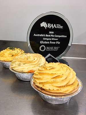3 winning Pies with award