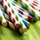 Coloured paper straws